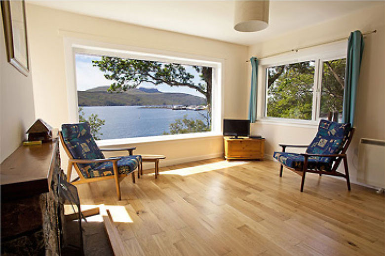 Port á Mhinich is perched up on the hill overlooking Loch Broom and Ullapool