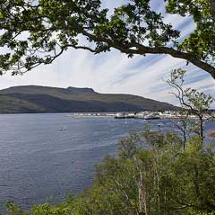 The lounge has spectacular views over the loch and Ullapool